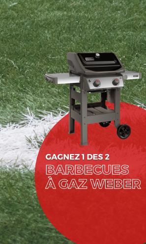 Gagnez 1 des 2 barbecues à gaz Weber